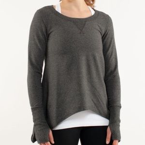 Lululemon Grey Tea Lounge Sharkbite Pullov…
